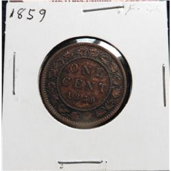 1859 Canada Large Cent. VF 20.
