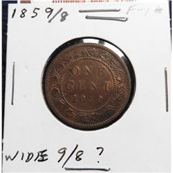 1859/8 Canada Large Cent. Wide 9/8?