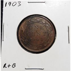 1903 Canada Large Cent. Red-Brown MS 63+.