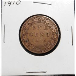 1910 Canada Large Cent. VF 20.