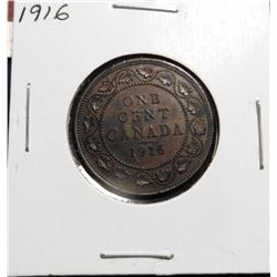 1916 Canada Large Cent. EF 40.