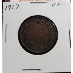 1917 Canada Large Cent. VF 20.