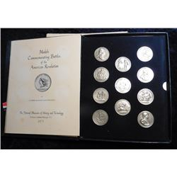 "1973 issued Set of ""Medals Commemorating Battles of the American Revolution"" by Vladimir and Elvira"