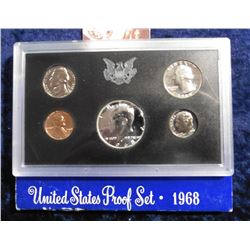 1968 S Silver U.S. Proof Set. Original as issued.