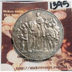 1913A Prussia, Germany Three Mark. KM534. BU. .900 fine silver. 100th Anniversary of Victory over Na