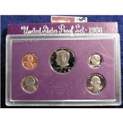 1986 S U.S. Proof Set. Original as issued. Issued at $11.00.