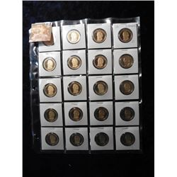 "(20) 2010 S Millard Fillmore Proof 65+ Presidential Dollars in 2"" x 2"" holders and a plastic page. R"