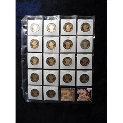 "(18) 2008 S Martin Van Buren Proof 65+ Presidential Dollars in 2"" x 2"" holders and a plastic page. R"