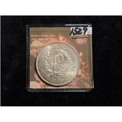 1961 (I) Uruguay 10 Pesos. KM 43. Sesquicentennial of the Revolution against Spain. .900 fine silver
