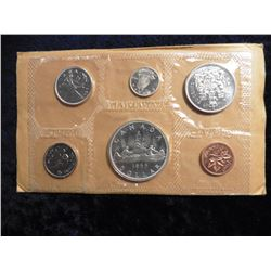 1965 Canada Prooflike Set. Six piece, Cent to Dollar. Original as issued.