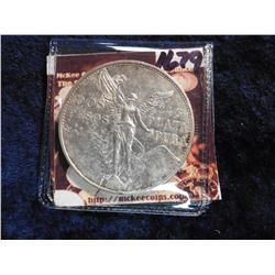 "1921 Mexico Centennial of Independence .900 fine Silver ""Winged Victory"" So-called Angel. KM462. Nic"