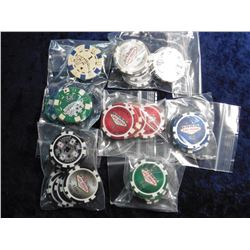 Large group of Casino Chips, various denominations $1 to $100.00 all appear to be from Las Vegas.