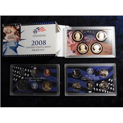 2008 S U.S. Mint Proof Set. Original as issued. 14 piece Set. Red Book value $85.00.