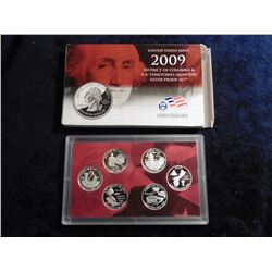 2009 S U.S. Mint State Silver Quarter Proof Set. Original as issued. 6 piece Set. Red Book value $40