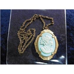 Cameo Necklace with Chain.