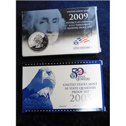 2005 S & 2009 S U.S. State Quarters Proof Set. Original as issued. Issue Price $30.90.