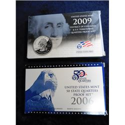 2006 S & 2009 S U.S. State Quarters Proof Set. Original as issued. Issue Price $30.90