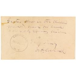 Creamery, Gallatin, Cover Signed by First Postmaster