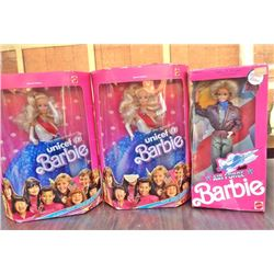 Lot (3 pc) BARBIE UNICEF & AIRFORCE