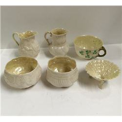 Lot (6 pc) BELLEEK Variety of Patterns
