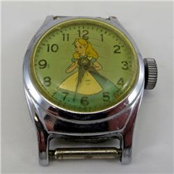"Vintage ""ALICE in WONDERLAND"" WATCH US Time DISNEY A-3"