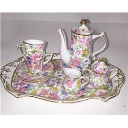 Fielder Keepsakes Miniature CHINTZ (10) Coffee TEA SET