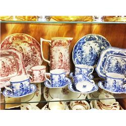Lot (17pc) JOAN of ARC China Blue White Red White