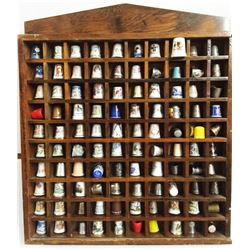 Lot (101 pcs) THIMBLE Collection in Display CABINET