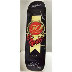El Gato AUTOGRAPHED SKATEBOARD DECK Signed by Eddie Elguera, Lincoln Ueda & Kevin Staab.