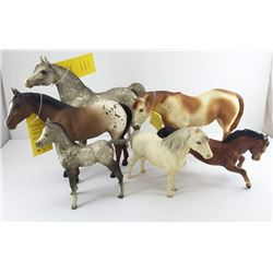 Lot (6 pcs) BREYER HORSES inc Indian Pony w Warrant #175; Quarter Horse Yearling #101; Proud Arab St