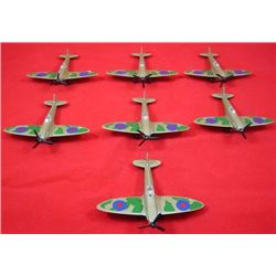 Lot (7 pcs) Vintage 1973 MATCHBOX DIE CAST SPITFIRE SB 8 Series LESNEY Plane England Great Britain