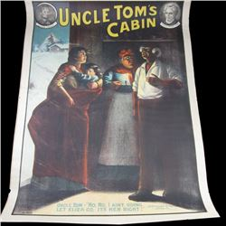 "UNCLE TOM'S CABIN Original No.2220 Stage Play 1/2 sheet LITHOGRAPH ""No, No I Ain't Going. Let Eliza"