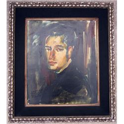 Framed Portrait OIL PAINTING on Canvas by French Impressionist Artist P. JEROME