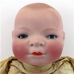"GRACE S. PUTNAM Antique GERMAN BISQUE Bye-lo BABY DOLL 14"" Head BLUE SLEEP EYES"