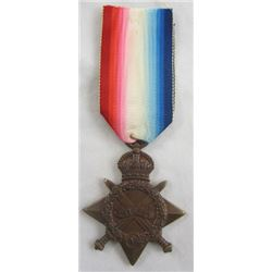 Antique BRITISH 1914-1915 STAR MEDAL Bronze World War I ASC Royal Army WW I