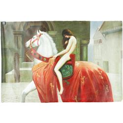 Chinese Oil Painting on Canvas Girl On Horse