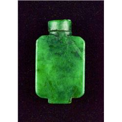 18th/19th C. Emerald Green Hardstone Snuff Bottle