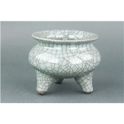 Chinese Song Style Porcelain Tripod Censer