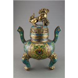 Qing Period Imperial Cloisonne Censer Xuande Mark