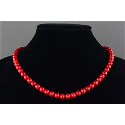 Chinese Red Coral Necklace