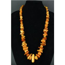 Raw Baltic Amber Bead Necklace