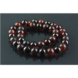 Chinese Red Amber Necklace