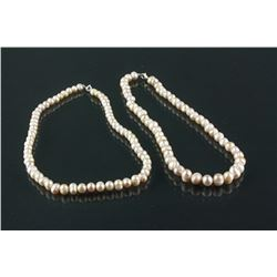 Chinese White Pearl Necklace
