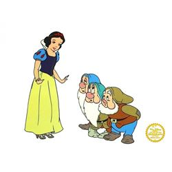 Snow White & 3 Dwarfs Walt Disney Limited Edition Animation Serigraph Cel