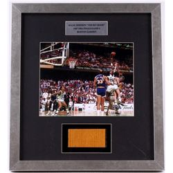 Magic Johnson Lakers 16x18 Custom Framed Shadow Box Display with Game-Used Floor Piece