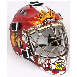 Ed Belfour Signed Blackhawks Mini Goalie Mask (Schwartz COA)