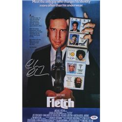 "Chevy Chase Signed ""Fletch"" 11x17 Photo (PSA COA)"