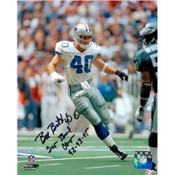 "Bill Bates Signed Cowboys 8x10 Photo Inscribed ""Super Bowl Champs 92-93-95"" (PA LOA)"