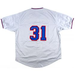 "Fergie Jenkins Signed Cubs Throwback Jersey Inscribed ""HOF 91"" (Schwartz COA)"