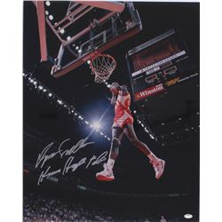"Dominique Wilkins Signed Hawks 16x20 Photo Inscribed ""Human Highlight Film"" (Schwartz COA)"